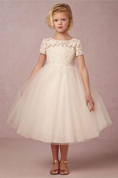 Short Sleeve Ball Gown Ivory Flower Girl Dresses 2016 Lace Open Back Kids Prom Dress Cute Holy Communion Dresses