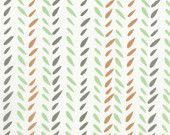 Leaf Stripe in Earth  from Garden Party by Jane Dixon- SPECIAL Price for ONE YARD cuts