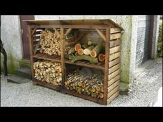 4 compartment storage bin for kindling and firewood