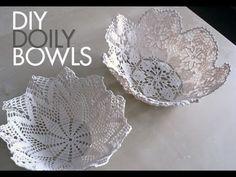 DIY: Doily bowls