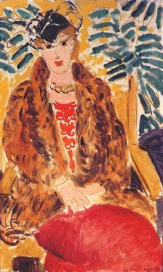 "fashioninpaintings: ""The Fur Coat by Henri Matisse, 1936 "" Henri Matisse, Matisse Kunst, Matisse Art, Matisse Pinturas, Carl Spitzweg, Antoine Bourdelle, Matisse Paintings, Atelier D Art, Post Impressionism"