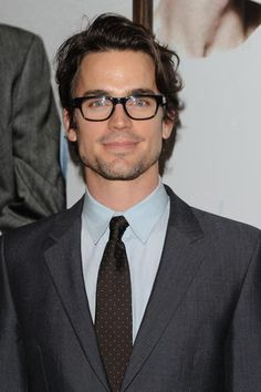 Matt Bomer offered to feed your cat while you're away. | 23 Pictures That Prove Glasses Make Guys Look Obscenely Hot