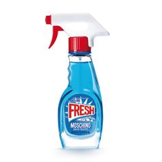 Moschino are having fun again and supplying a cheeky wink with your fragrance. Moschino Fresh Couture looks like a bottle of Febreze ( which I love), complete Perfume Diesel, Perfume Bottles, Hermes Perfume, Jeremy Scott, New Fragrances, Fragrance Parfum, Top Perfumes, Moschino Fresh, Health Products