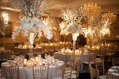 Diana Gould Ltd., The Chosen Few, Event Design white gold candles floral wedding design centerpieces // Pinned by Dauphine Magazine x Castlefield - Curated by Castlefield Bridal & Branding Atelier and delivering the ultimate experience for the haute couture connoisseur! Visit www.dauphinemagazine.com, @dauphinemagazine on Instagram, and @dauphinemag on Pinterest • Visit Castlefield: www.castlefield.co and @ castlefieldco on Instagram / Luxury, fashion, weddings, bridal style, décor, travel…