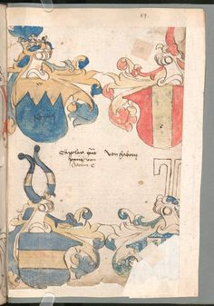 Wernigeroder (Schaffhausensches) Wappenbuch Süddeutschland, 4. Viertel 15. Jh. Cod.icon. 308 n  Folio 89r