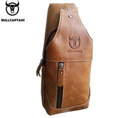 Genuine Leather Crossbody Bags Men Casual Messenger Bag Small Shoulder Bag