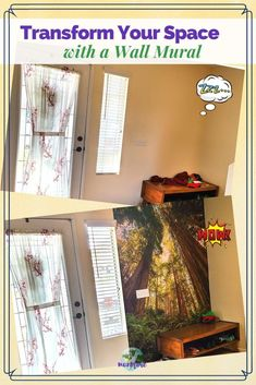 Wake up your boring rooms with a wall mural. Installation is easy with our step by step instructions. #wallmural #wallpaper #howtohangwallpaper #homedecor #roomtransformation #easydiy How To Hang Wallpaper, Glass Front Door, Holiday Time, Northern California, Wall Colors, Wall Murals, Diy Home Decor, Easy Diy, Diy Projects