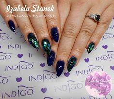 Magiczna folia Mirror Effect Emerald by Izabela Sanek Indigo Young Team #indigo #nail #nails #effect #emerald #foil #magic
