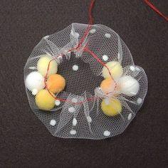 チュール素材で作るシースルーリボン(5)