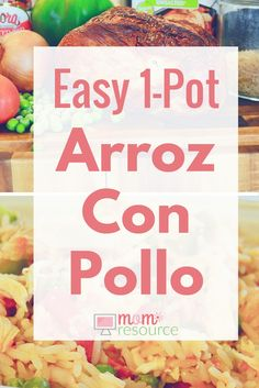Arroz con pollo recipe: this EASY 1-pot recipe does not disappoint! Keep this arroz con pollo recipe in mind whenever you have leftover chicken in your fridge! Arroz con pollo (rice with chicken) is a classic latin recipe with MANY versions (Puerto Rican, Mexican, Cuban, Peruvian, Spanish, Columbian, Dominican, etc). www.momresource.com/arroz-con-pollo-recipe via @momresource