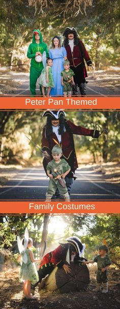 Disney's Peter Pan Costumes for the Whole Family  #peterpan #tinkerbell #captainhook #familycostumes