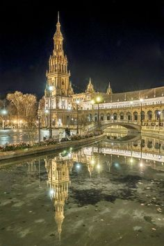 Night in Sevilla, Spain