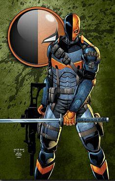 Deadpool Deathstroke, Deathstroke The Terminator, Comic Villains, Dc Comics Characters, Marvel Vs, Marvel Dc Comics, Comic Books Art, Comic Art, Nightwing And Starfire