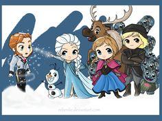 Chibi Disney Frozen | Chibi Frozen by rebenke Olaf is freakin' killing me! He's so cute!!!
