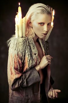 "The Look: ""Burn Away"" featuring Elena Mitinskaya photographed by Ekaterina Belinskaya. Styling and design by Alisa Gagarina."