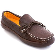 a761a816d26 Mens Buffalo Hide Deerskin Lined Triple Sole Canoe Moc. Leather Slippers ...