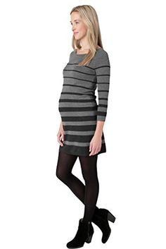 Ripe Adelaide Striped Sweater Knit Maternity Tunic Charcoal XSmall * Learn more by visiting the image link. Maternity Fashion, Pregnancy Fashion, Maternity Sweater, Fashion Brands, Topshop, Dresses For Work, Knitting, Sleeves, Sweaters