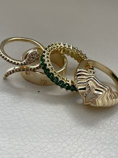 Cute Jewelry, Gold Jewelry, Jewelry Rings, Jewelry Accessories, Chunky Jewelry, Cute Rings, Pretty Rings, Accesorios Casual, Swagg
