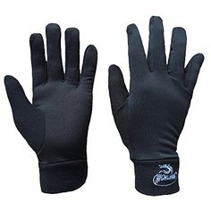 Practical Washable Merino Wool Glove Liner Lightweight Wool Glove 100% Australia Merino Wool Gloves,black Color
