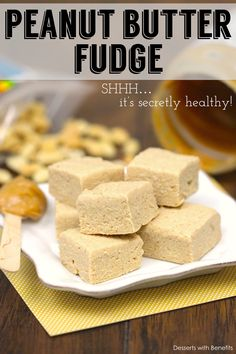 (Secretly Healthy) Peanut Butter Fudge! Yup, you read that right... sweet, soft and decadent, yet low fat, low calorie, low carb, sugar free, gluten free and high protein!