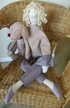 Extra Large Tilda Doll. Tilda in Wool Sweater. Tilda by SewnJoys