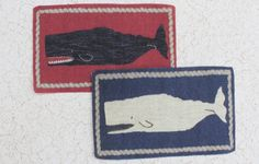 Miniature Whale Rug for Dollhouse in Red or Blue One Twelfth Scale by GreenGypsies on Etsy https://www.etsy.com/listing/97765357/miniature-whale-rug-for-dollhouse-in-red