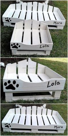 This is another wonderful and incredible wood pallets dog bed ideas that we have crafted with upcycled wood pallets. Let's provide your lovely pet something exceptional for his comfort and craft this beautiful project on your own and further decorate it with comfortable, bright color mattress. #dogbed