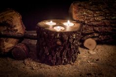 Hey, I found this really awesome Etsy listing at https://www.etsy.com/listing/254157050/oak-log-tealight-holder