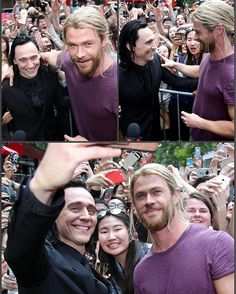 Tom and his hot Blonde Source: Torrilla via #Weibo • • • #Hiddlesworth #tomhiddleston #chrishemsworth #loki #thor #TheOnlyBlondeillacknowledgeHimWith