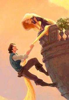 Tangled - rapunzel and flynn rider - concept art - disney wallpaper Disney Magic, Disney Pixar, Disney Fan Art, Disney Dream, Walt Disney, Disney E Dreamworks, Disney Amor, Animation Disney, Disney Tangled