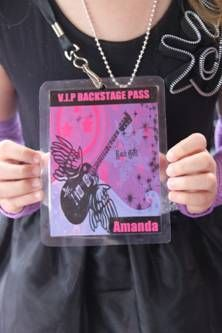 Party Like A Rock Star Birthday Party~VIP back stage pass party invitation 02