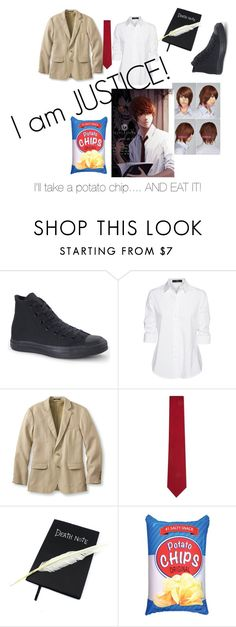 """""""Light Yagami (Death Note) cosplay"""" by danhowellsllama ❤ liked on Polyvore featuring Converse, Steffen Schraut, L.L.Bean, Richard James, Nina B, Iscream, men's fashion and menswear"""