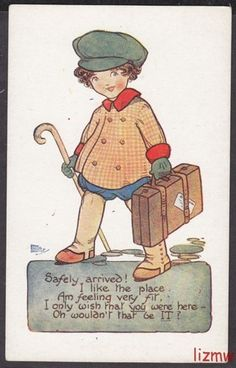 HGC Marsh Lambert card | eBay Vintage Children's Books, Vintage Postcards, Vintage Art, Kids Cards, Nursery Rhymes, Vintage Advertisements, Childrens Books, Just In Case, Illustrators