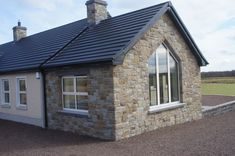 90% Tipperary Brown & 10% Tipperary Blue Sandstone - Coolestone Stone Importers Suppliers Masonry Tyrone Northern Ireland Dream Home Design, House Design, Blue Granite, Double Front Doors, Stone Masonry, House Windows, Northern Ireland, House Colors, Modern Design