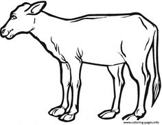 Print realistic calf farm animal sf047 coloring pages