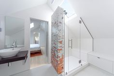 In the master bathroom, the Smiths worked with a Boston-based company, Artaic, on the mosaic tile.