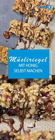 Müsliriegel selber machen: Knuspriger Snack für zwischendurch Making muesli bars yourself – we tried it and favored this recipe for home-made granola bars with some honey – and who would like to be able to add chocolate Chocolate Pumpkin Bread, Chocolate Bars, Granola Barre, Make Your Own Granola, Muesli Bars, Homemade Granola Bars, Homemade Muesli, Banana Bread Recipes, Dessert Bars