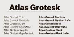 atlas grotesk - Google Search