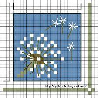 dandelion cross stitch pattern free