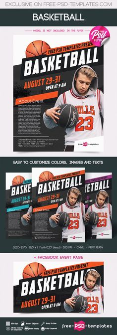 Today's freebie is for those who are looking for Basketball Flyer PSD Template! The template is perfect for creating presentations and different promotional ideas. It's very easy to edit and customize, so you can easily make changes to your liking. Totally FREE! So don't hesitate to check it out and enjoy!