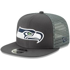 a80509af79a31 Men s Seattle Seahawks New Era Graphite Mesh Fresh 9FIFTY Adjustable  Snapback Hat