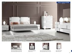 Great White Bedroom Furniture Set And Floating Bed Design Also Unusual Chest Of Drawer Feat Lush Fur Rug Great Bedroom Furniture Sets Offering Maximum Beauty and Comfort Bedroom Design Modern Bedroom Design, Modern White Bedroom, Platform Bedroom, Modern White Bed, Modern Bedroom Furniture, Italian Bedroom, Italian Furniture Modern, Bedroom Furniture Sets, Italian Bedroom Sets