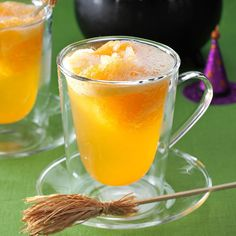 Orange Witches' Brew Punch Recipe -This slushy punch requires no ice ring to keep it cold. It's not too sweet, so it appeals to everyone. Use this refreshing beverage for any celebration. —Susan Johnson, Lyons, Kansas