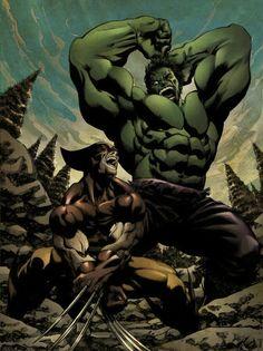 """Because you thought you were stronger than the Hulk? No one is stronger than the Hulk! Marvel Wolverine, Marvel Comics Art, Marvel Vs, Marvel Heroes, Comic Book Characters, Marvel Characters, Comic Books Art, Comic Art, Hulk Art"