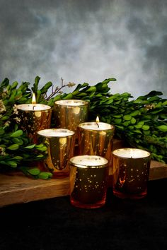 Mercury Glass Votive Holder Cups Gold (Set of 6) for $9.00 at save on crafts - rather than $12 at creative bag - save $0.50 each