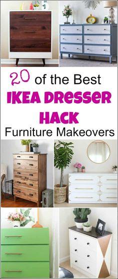 An Ikea dresser hack can transform a piece of basic flat furniture into so much more. Ikea hack ideas, #Ikeadressermakeovers #furniturehacks #dressermakeovers #IkeaMalmdresserhack #Ikeahacksdresser #Ikeahemnesdresserhack #Ikeahackdresser #Ikeadresserhacks #Ikearastdresserhack #Ikearasthack #Ikeapinedresser #DIYdresserideas #dresserideas #paintedfurnituremakeovers #furniturebeforeandafter via @justthewoods