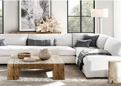 Picture Collection Of Solutions Restoration Hardware Sectional Sofa Perfect Maxwell Dimensions H Decor, Room, Room Design, Interior, Home Furnishings, Home, Apartment Living Room, Interior Design, Living Room Designs