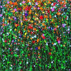 Painting, Oil in Nature, Vegetal, Flower, plant, drip technique - Image #562701
