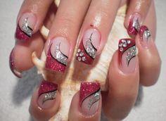 Love Nails, Pretty Nails, Long Square Acrylic Nails, Heart Nail Art, Pink Nail Art, Manicure Y Pedicure, Luxury Nails, Nail Art Designs, Nails Design