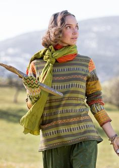 """""""Juniper"""" sweater in eco-cotton/wool – Theme Iceland – GUDRUN SJÖDÉN – Webshop, mail order and boutiques 